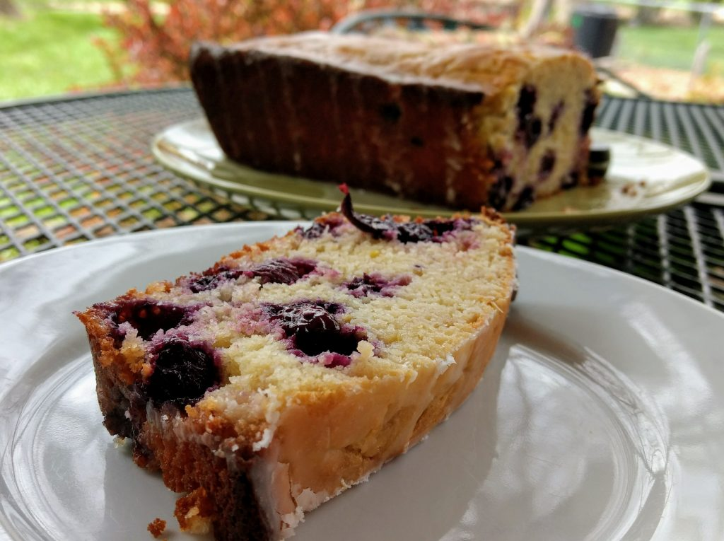 The lemon blueberry bread I ate after my rowing workout today. Moderation.